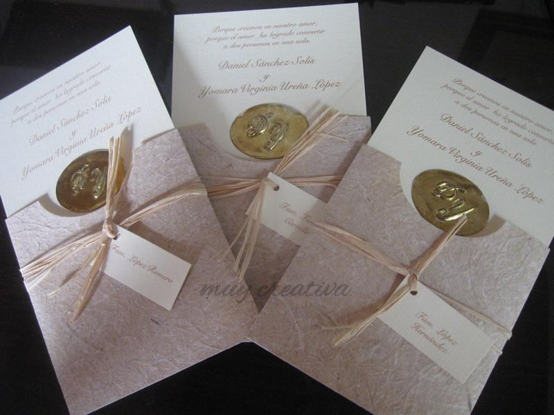 para boda sobres papel natural