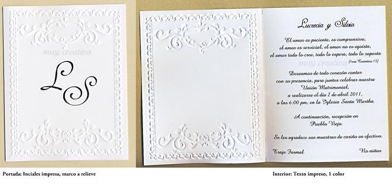 Invitaciones Para Boda    Relieve 2hojas 03