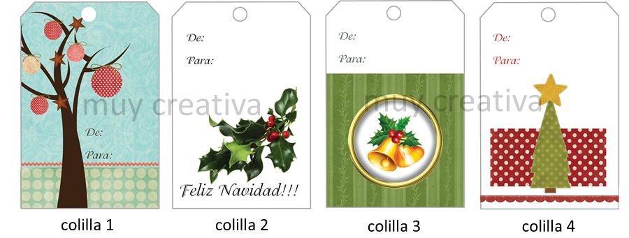 Colillas navidad01 tarjetas y dise os muy creativa - Postales navidenas creativas ...