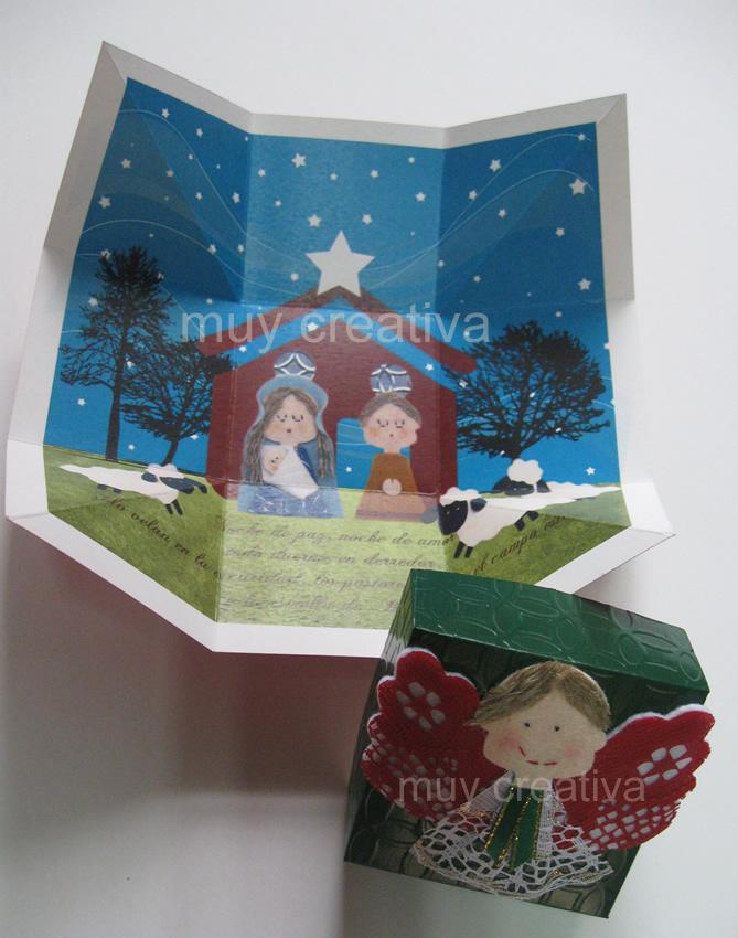 Tarjeta caja1c tarjetas y dise os muy creativa - Postales navidenas creativas ...