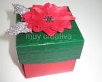Tarjeta-caja flor