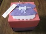 Tarjeta-caja, con vestido