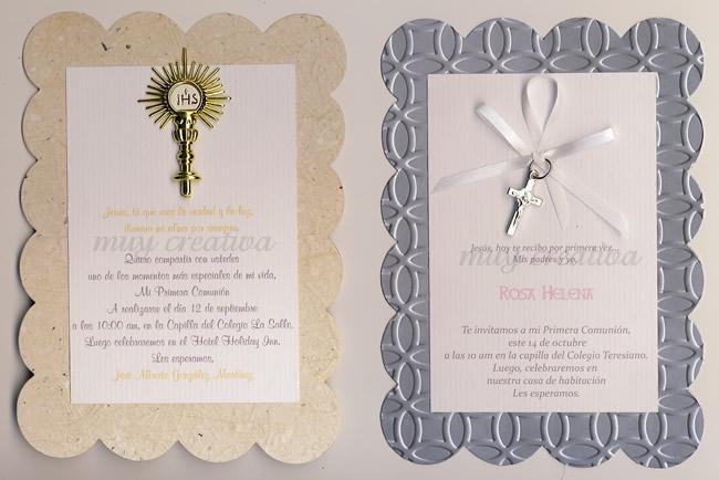 Festoneado1 tarjetas y dise os muy creativa - Como hacer tarjetas para comunion ...