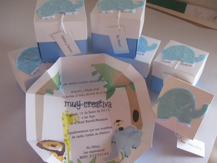 Manualidades De Tarjetas De Invitación Baby Shower Imagui