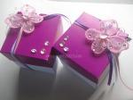 Tarjeta-caja Mariposa y piedras