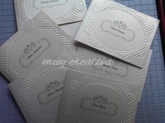 Marco ovalado texturizado