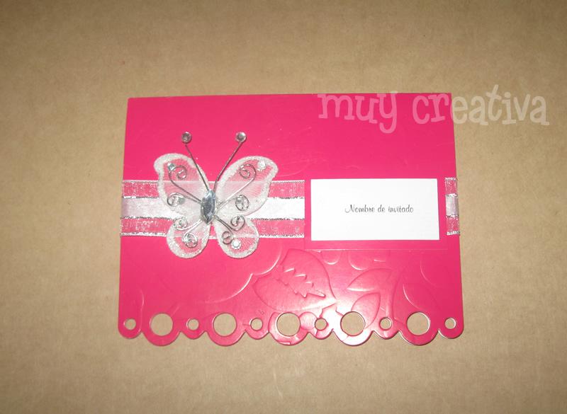 Tarjeta de mariposa para 15 anos - Imagui
