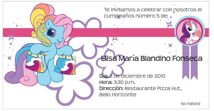 Tarjetas Para Imprimir My Little Pony Imagui