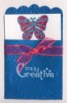 Mini bolsillo con mariposa