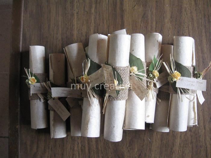 pergaminos de boda | Tarjetas y Diseños Muy Creativa