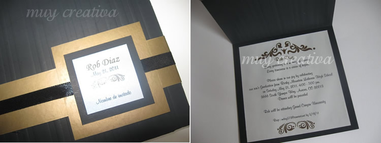 Modelo Tarjeta De Invitación De Grado Imagui