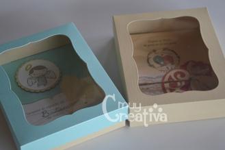 Cajas con ventana y tarjeta